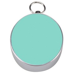 Tiffany Aqua Blue Puffy Quilted Pattern Silver Compasses