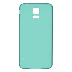 Tiffany Aqua Blue Puffy Quilted Pattern Samsung Galaxy S5 Back Case (White)
