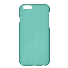 Tiffany Aqua Blue Puffy Quilted Pattern Apple iPhone 6 Plus/6S Plus Hardshell Case