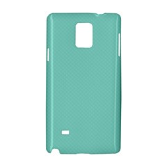 Tiffany Aqua Blue Puffy Quilted Pattern Samsung Galaxy Note 4 Hardshell Case