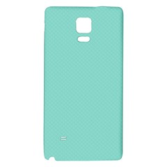 Tiffany Aqua Blue Puffy Quilted Pattern Galaxy Note 4 Back Case