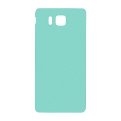 Tiffany Aqua Blue Puffy Quilted Pattern Samsung Galaxy Alpha Hardshell Back Case