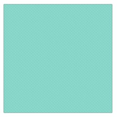 Tiffany Aqua Blue Puffy Quilted Pattern Large Satin Scarf (Square)