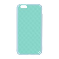 Tiffany Aqua Blue Puffy Quilted Pattern Apple Seamless iPhone 6/6S Case (Color)