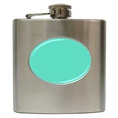 Classic Tiffany Aqua Blue Solid Color Hip Flask (6 oz)