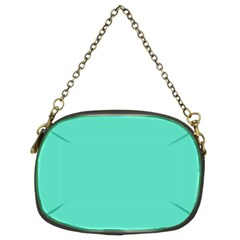 Classic Tiffany Aqua Blue Solid Color Chain Purses (Two Sides)