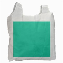 Classic Tiffany Aqua Blue Solid Color Recycle Bag (One Side)