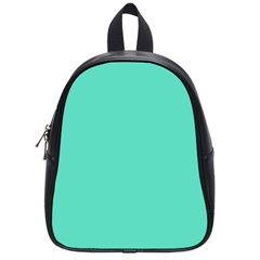 Classic Tiffany Aqua Blue Solid Color School Bags (Small)