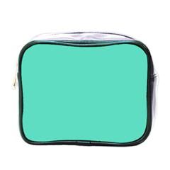 Classic Tiffany Aqua Blue Solid Color Mini Toiletries Bags