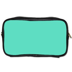 Classic Tiffany Aqua Blue Solid Color Toiletries Bags