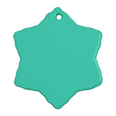 Classic Tiffany Aqua Blue Solid Color Ornament (Snowflake)