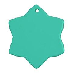 Classic Tiffany Aqua Blue Solid Color Ornament (Snowflake)