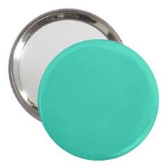 Classic Tiffany Aqua Blue Solid Color 3  Handbag Mirrors