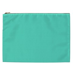Classic Tiffany Aqua Blue Solid Color Cosmetic Bag (XXL)
