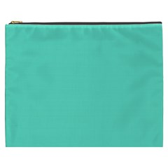 Classic Tiffany Aqua Blue Solid Color Cosmetic Bag (XXXL)
