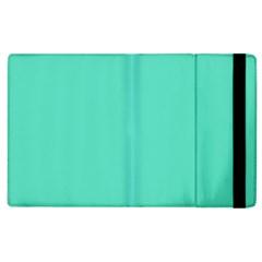 Classic Tiffany Aqua Blue Solid Color Apple iPad 3/4 Flip Case