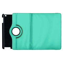 Classic Tiffany Aqua Blue Solid Color Apple iPad 2 Flip 360 Case