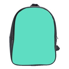 Classic Tiffany Aqua Blue Solid Color School Bags (XL)