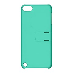 Classic Tiffany Aqua Blue Solid Color Apple iPod Touch 5 Hardshell Case with Stand