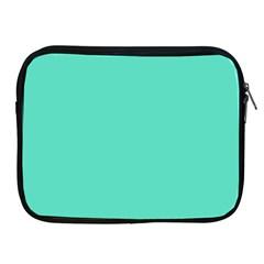 Classic Tiffany Aqua Blue Solid Color Apple iPad 2/3/4 Zipper Cases