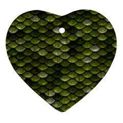 Green Scales Ornament (Heart)