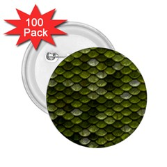 Green Scales 2.25  Buttons (100 pack)