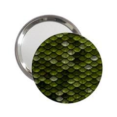 Green Scales 2.25  Handbag Mirrors