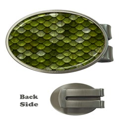 Green Scales Money Clips (Oval)