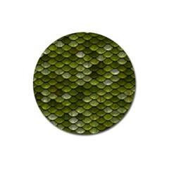 Green Scales Magnet 3  (Round)