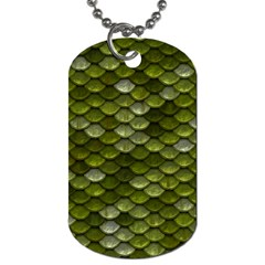 Green Scales Dog Tag (One Side)