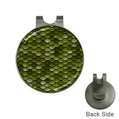 Green Scales Hat Clips with Golf Markers