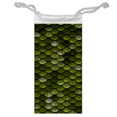 Green Scales Jewelry Bag