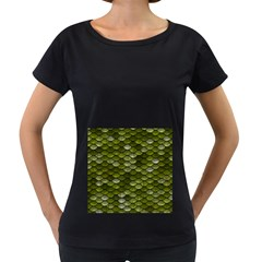 Green Scales Women s Loose-Fit T-Shirt (Black)