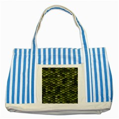 Green Scales Striped Blue Tote Bag