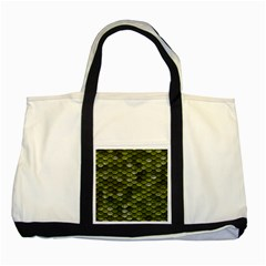Green Scales Two Tone Tote Bag