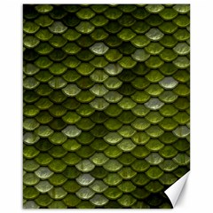 Green Scales Canvas 16  x 20