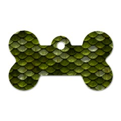Green Scales Dog Tag Bone (Two Sides)