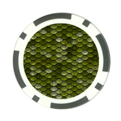 Green Scales Poker Chip Card Guard