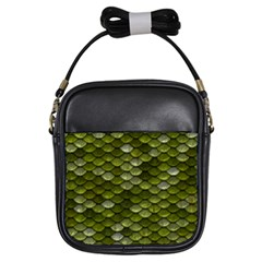 Green Scales Girls Sling Bags