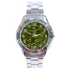 Green Scales Stainless Steel Analogue Watch