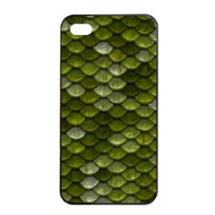 Green Scales Apple iPhone 4/4s Seamless Case (Black)