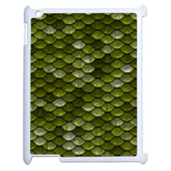 Green Scales Apple iPad 2 Case (White)