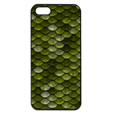 Green Scales Apple iPhone 5 Seamless Case (Black)