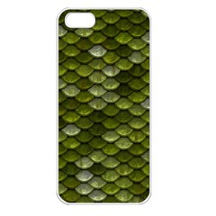 Green Scales Apple iPhone 5 Seamless Case (White)