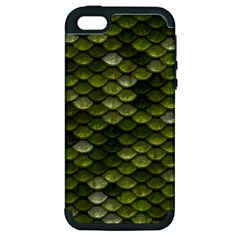 Green Scales Apple iPhone 5 Hardshell Case (PC+Silicone)