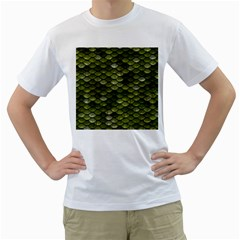 Green Scales Men s T-Shirt (White)