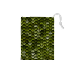 Green Scales Drawstring Pouches (Small)