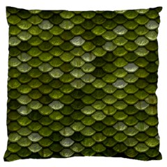 Green Scales Standard Flano Cushion Case (One Side)