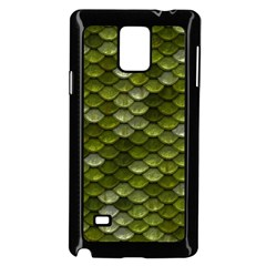 Green Scales Samsung Galaxy Note 4 Case (Black)