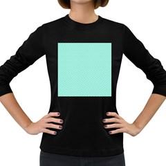 Tiffany Aqua Blue Chevron Zig Zag Women s Long Sleeve Dark T-Shirts